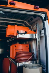 mold removal equipment in van